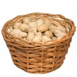 Basket with nuts — Stock Photo