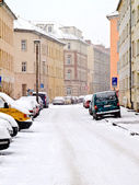 Street in the winter — Stock Photo