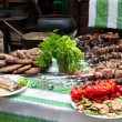 Stock Photo: Table with meat dishes