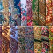 Stock Photo: Scarves with floral patterns