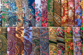 Scarves with floral patterns — Stock Photo
