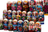 Nesting Dolls or Matreshki — 图库照片