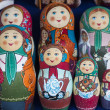 Group handpainted nesting dolls — Stock Photo #13516221