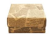 "Caja de regalo ""periódico viejo"" — Foto de Stock"