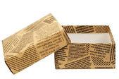 """Scatola regalo """"vecchio giornale"""" — Foto Stock"""