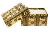 """Caja de regalo de 100 dólares"""". — Foto de Stock"""