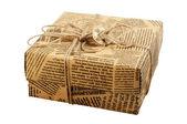 "Gift box ""Old Newspaper"" — Stock Photo"
