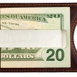 Dollars in money clip. — Stock Photo
