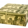 "Stock Photo: Gift box ""100 Dollars"""
