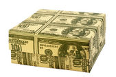 "Gift box ""100 Dollars"" — Stock Photo"
