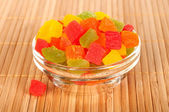 Candied fruit in a vase. — Stock Photo