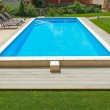 Swimming pool in the yard of a private home. — Stock Photo #49958315