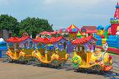Children attraction train. — Stock Photo