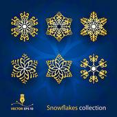 Snowflakes vector set — Stock Vector