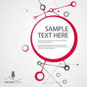 Vector abstract background for sample text — Stok Vektör