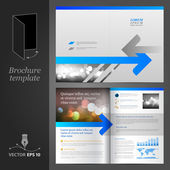 Brochure Template Design — Stock Vector