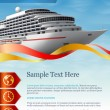 Cruise liner — Vector de stock