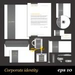White corporate identity template — Stock Vector #41212147