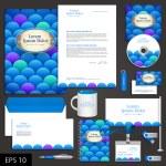 Sea corporate identity template — Stock Vector #41212675