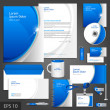 Blue corporate identity template — Stock Vector #41213055