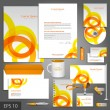 Corporate identity template with orange — Stock Vector #41214301