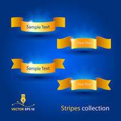 Blue ribbons — Stock Vector