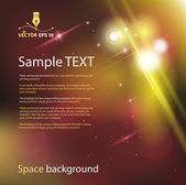 Space background for sample text — Stock Vector