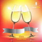 Champagne glass — Stock Vector