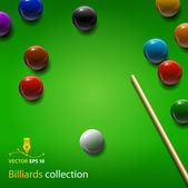 Billiards collection — Stock Vector