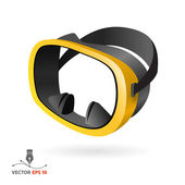 Scuba mask — Stock Vector