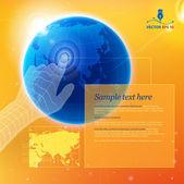 Global navigation — Stock Vector