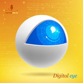 Digital eye — Stock Vector