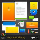 Color corporate identity template. — Stock Vector