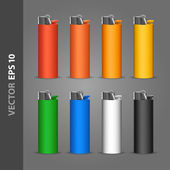 Lighter template — Stock Vector