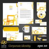 Modern white corporate identity template — Stock Vector