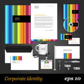 Color corporate identity template. — Stock Vector