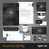 Grey corporate identity template with arrows. — Stock Vector