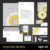 Grey corporate identity template — Stock Vector