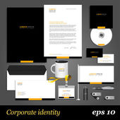 Black corporate identity template — Stock Vector