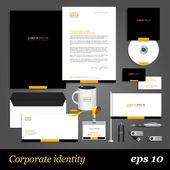 Black corporate identity template — Stock Vector