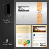 дизайн шаблона брошюры — Cтоковый вектор