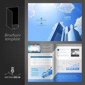 Diseño de plantilla folleto. moderno centro de negocios. — Vector de stock