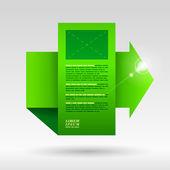Green arrow  for sample text. — Stock Vector