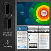 Green brochure template design — Stock Vector