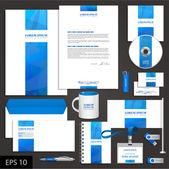 White corporate identity template — Stock Vector