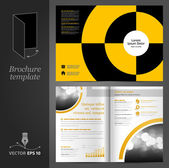 Brochure template design with round elements. — Stock Vector