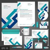 Gray corporate identity template — Stock Vector