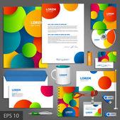 Artistic corporate identity template — Stock Vector