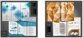 Broschyr mall design med origami papper element — Stockvektor