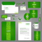 Diseño de plantillas de papelería verde — Vector de stock